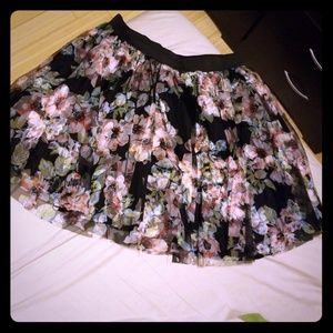 Torrid black floral tutu